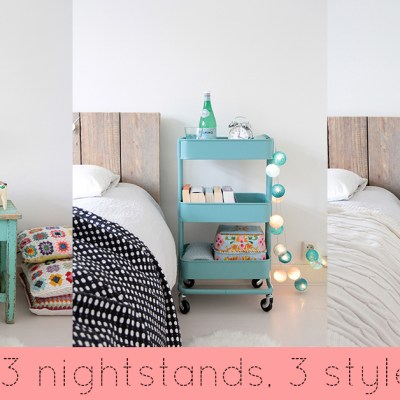 3 nightstands, 3 styles