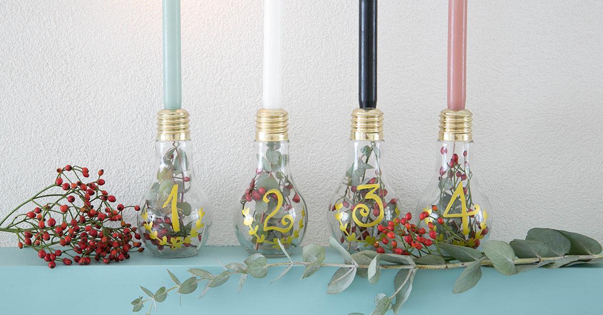 DIY: candele dell'avvento