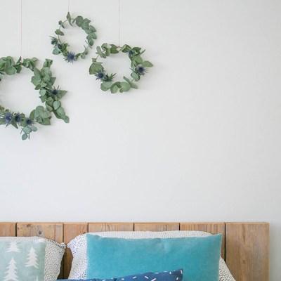 Ghirlande d'inverno in camera da letto