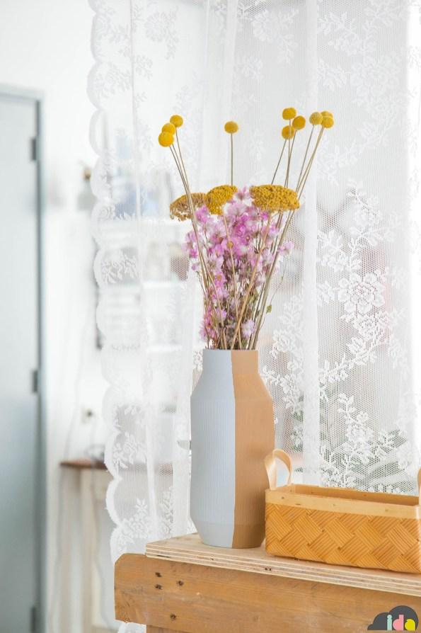 Il vaso di Ikea che ho ridipinto con i colori di Flexa
