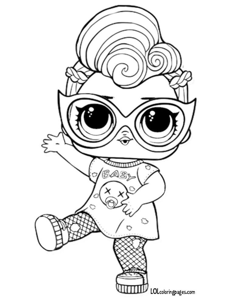 Раскраска кукла ЛОЛ Гранж Grunge