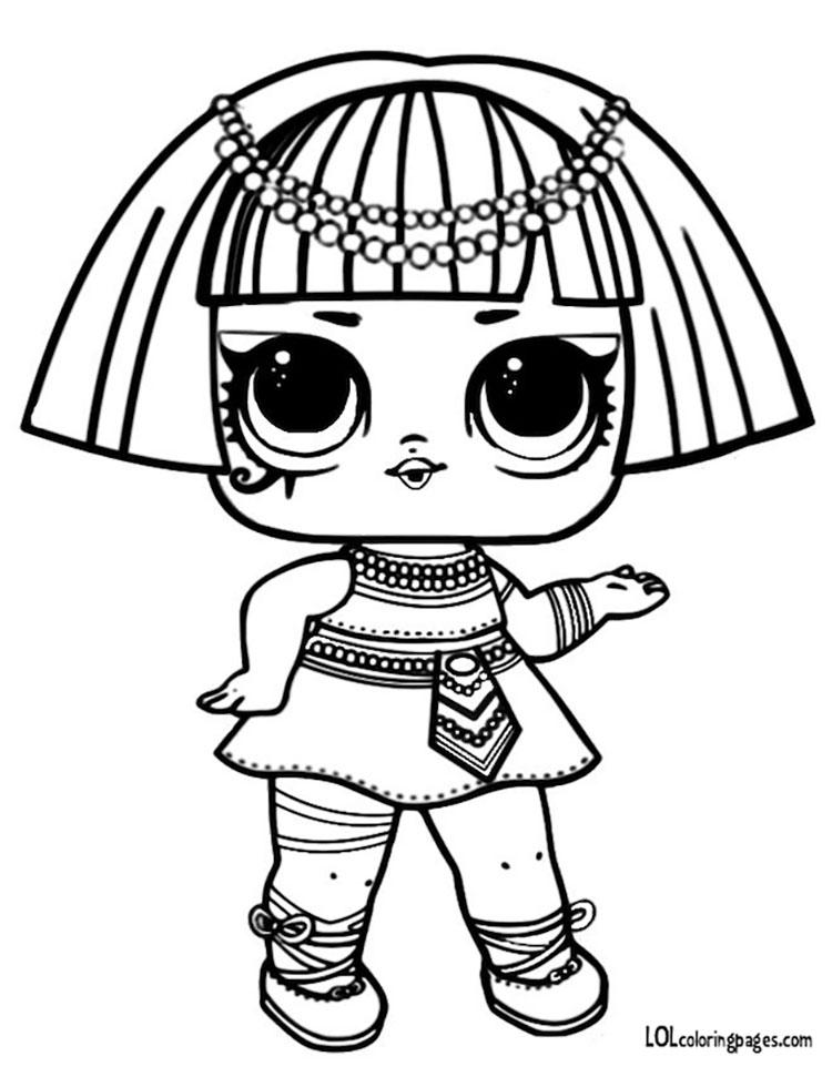 ЛОЛ раскраски распечатать Фараон Pharaon
