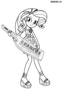 Раскраска Девочки из Эквестрии Rarity