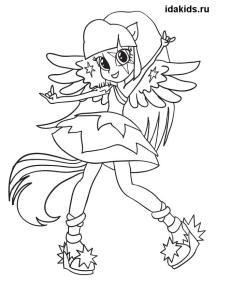 Раскраска Девочки из Эквестрии Twilight Sparkle