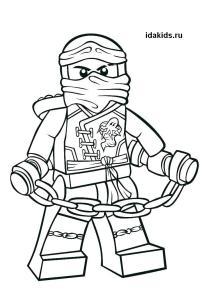 Раскраска Ниндзяго Лего Джей самый быстрый