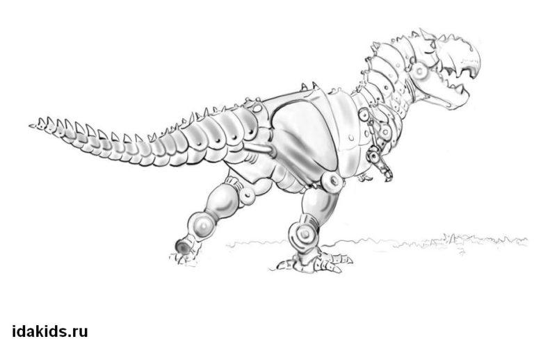 Раскраска Трансформеры Динозавры