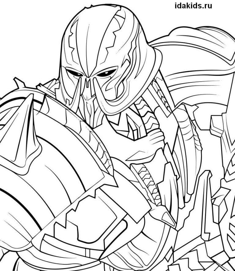 Раскраска Трансформеры Последний рыцарь Мегатрон