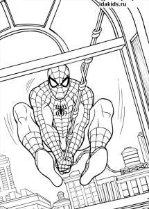 Раскраски Человек паук и Мстители
