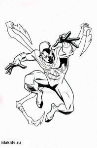 Раскраски Человек паук Железный