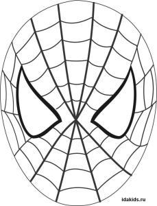 Раскраски Человек паук маска