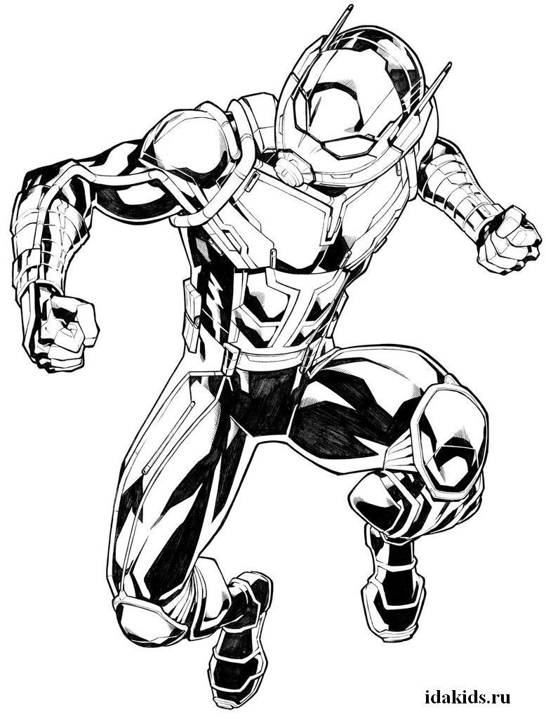 Раскраски Человек Муравей: распечатать бесплатно