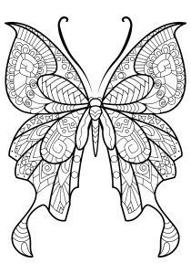 Butterflies - Free printable Coloring pages for kids15