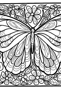 Butterflies - Free printable Coloring pages for kids5