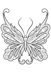 Butterflies - Free printable Coloring pages for kids18