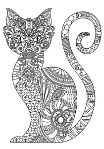 Cats - Free printable Coloring pages for kids3