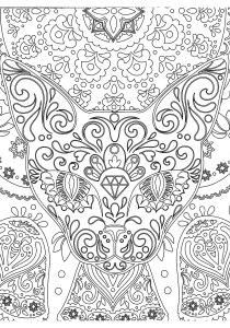 Cats - Free printable Coloring pages for kids14