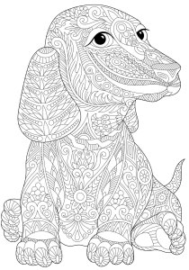 Dogs - Free printable Coloring pages for kids5