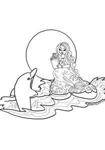 Dolphins - Free printable Coloring pages for kids17