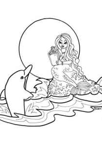 Dolphins - Free printable Coloring pages for kids4
