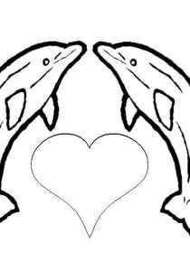 Dolphins - Free printable Coloring pages for kids7