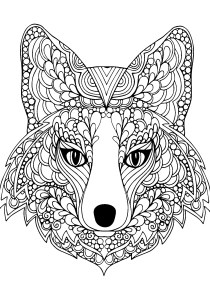 Fox - Free printable Coloring pages for kids3