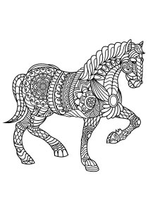 Horses - Free printable Coloring pages for kids2