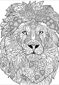 Lion - Free printable Coloring pages for kids2