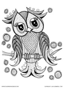 Owls - Free printable Coloring pages for kids3