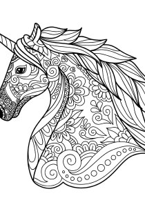 Unicorns - Free printable Coloring pages for kids1