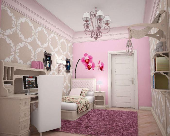 Дизайн детской комнаты для школьника девочке
