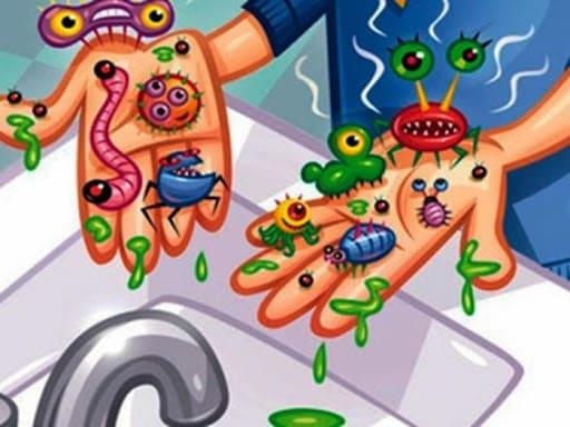 Микробы на руках для детей