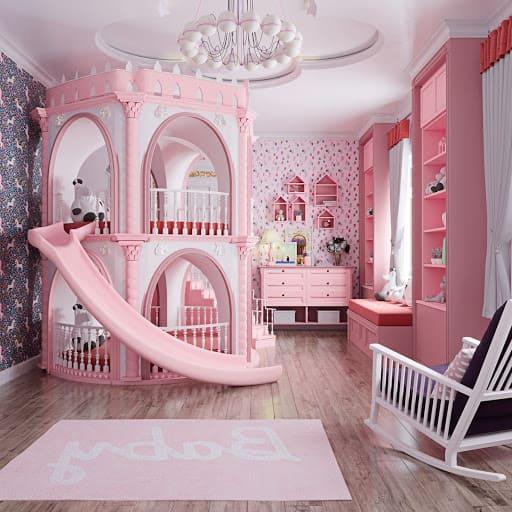 Дизайн детской комнаты для дочки 4 года