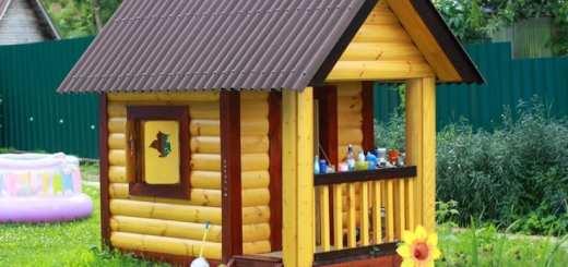 Домики для детских площадок из дерева