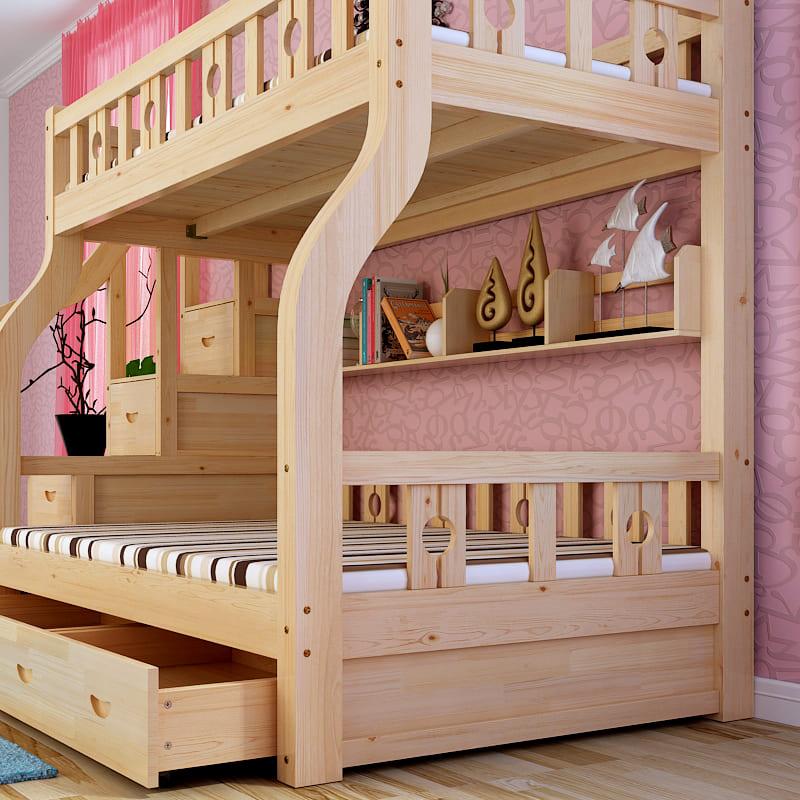 Двухэтажные кровати для девочек