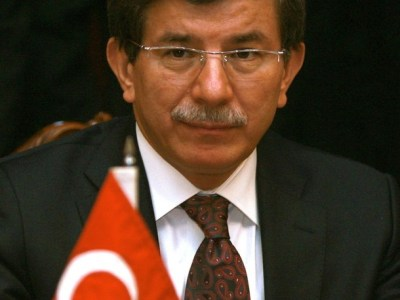Turkish Foreign Minister Ahmet Davutoglu is photographed during meeting at the Foreign Ministry in Islamabad