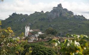 A hillside church in Calulo Kwanza Sul