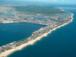Aerial view of Lobito coast