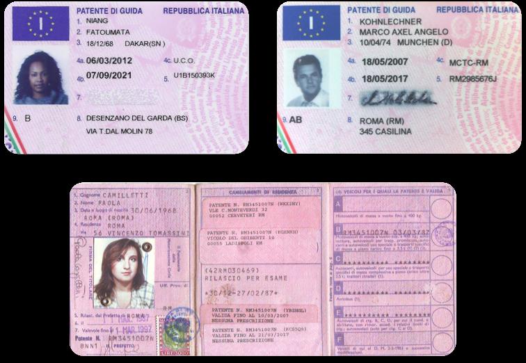 English To Italian International Driver S License