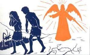 Résultats de recherche d'images pour «satan et adam et eve chatiment chassé du paradis»