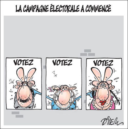 La Campagna elettorale secondo il vignettista Dilem