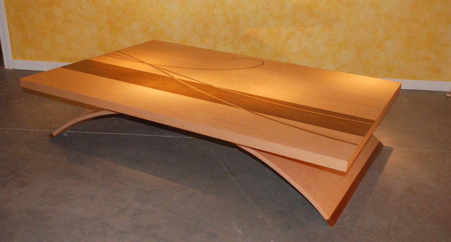 Table Basse Design Arc Atelier POURQUOI PAS Mobilier
