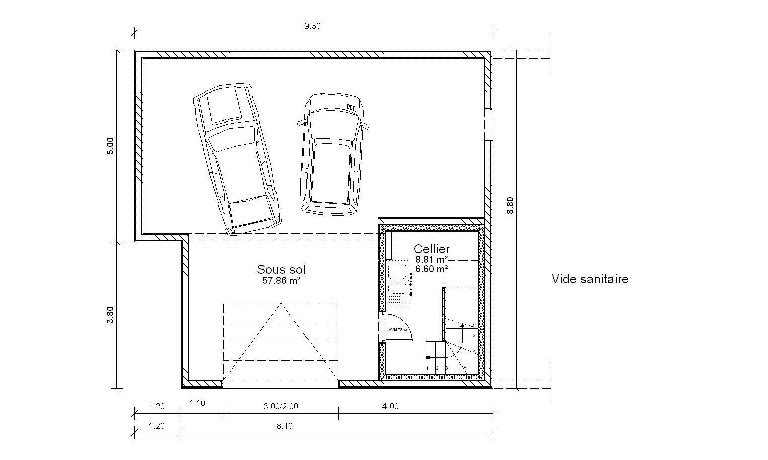 Dimension Garage Double Voiture Dimension Standard D Un