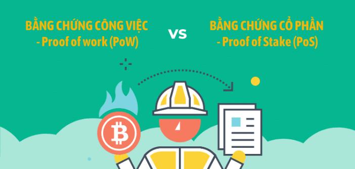 So sánh bằng chứng công việc (PoW) và bằng chứng cổ phần (PoS)