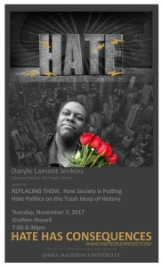 Daryle Lamont Jenkins is Speaking at James Madison University @ Grafton-Stovall Theatre, James Madison University | Harrisonburg | Virginia | United States
