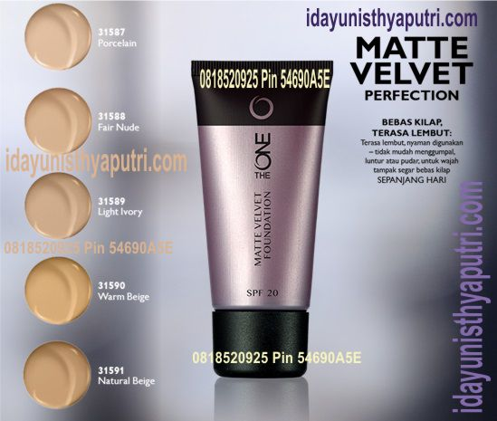 THE ONE MATTE VELVET FOUNDATION SPF 20