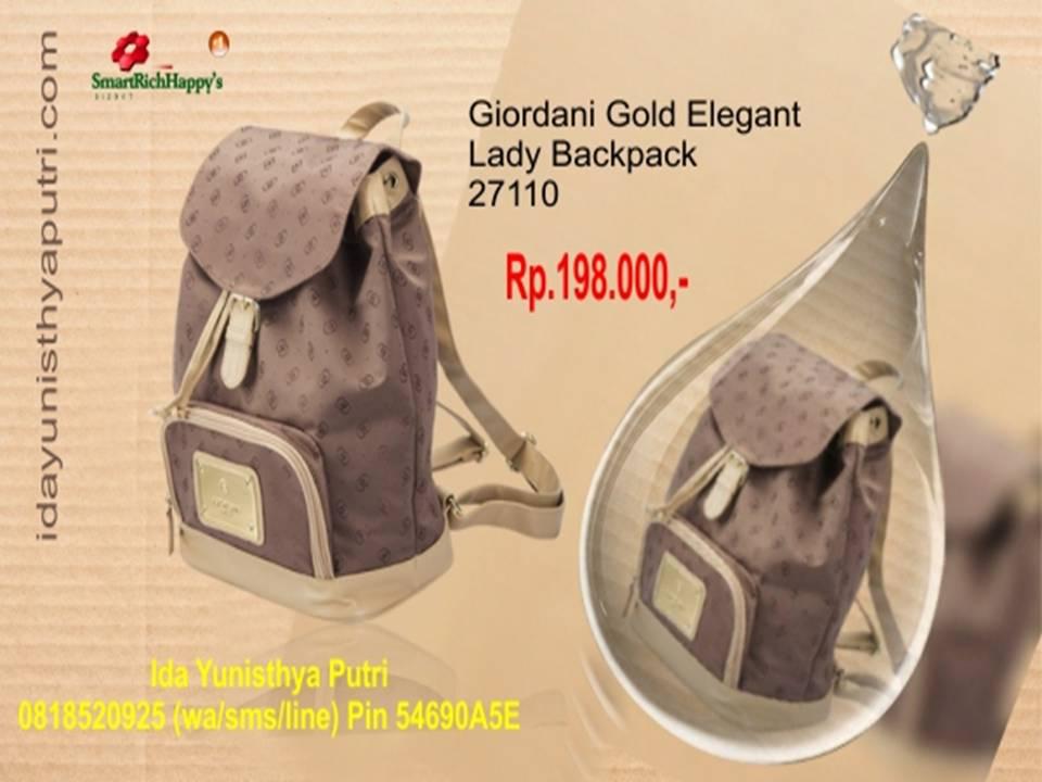 Giordani Gold Backpack ransel