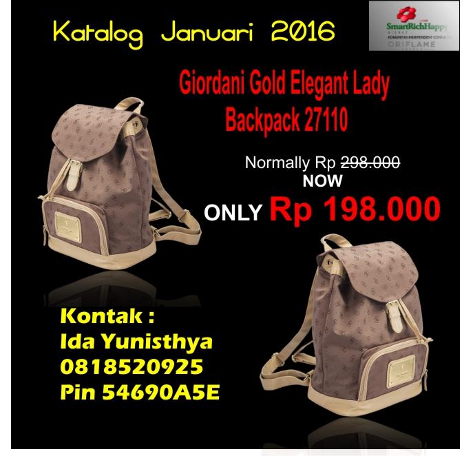 Giordani Gold Elegant LAdy Back Pack 27110