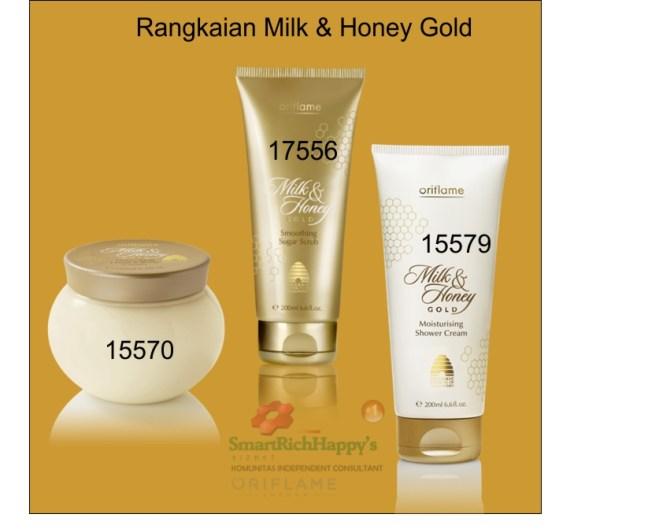 Rangkaian Milk & Honey Gold Kemasan Lama