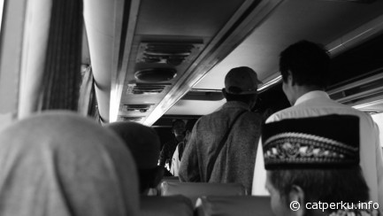 Common situation you can found inside economic bus from Surabaya to Yogyakarta