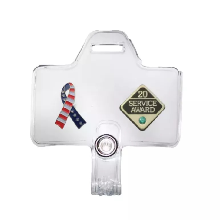 Horizontal Lanyard Badge Adapter